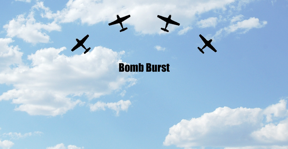 Bomb Burst Formation Pattern