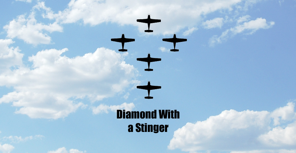 Diamond with a Stinger Formation Pattern